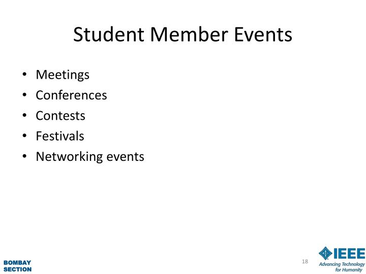 Student Member Events