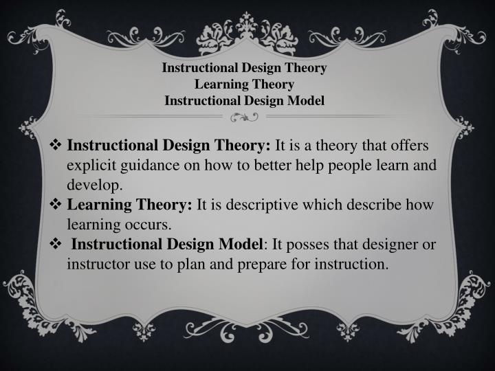 Instructional Design Theory