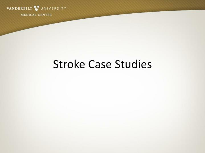 stroke case studies n.
