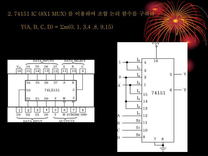 2. 74151 IC (8X1 MUX)