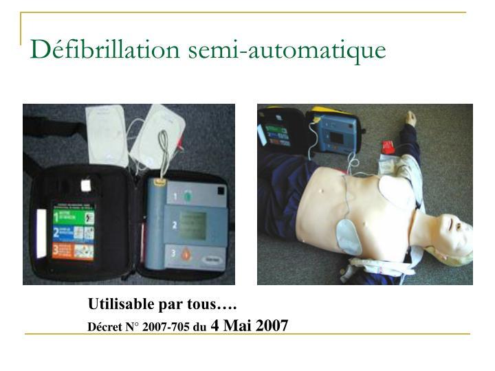 Défibrillation semi-automatique