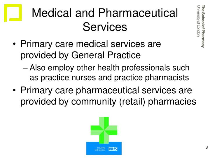 Medical and pharmaceutical services