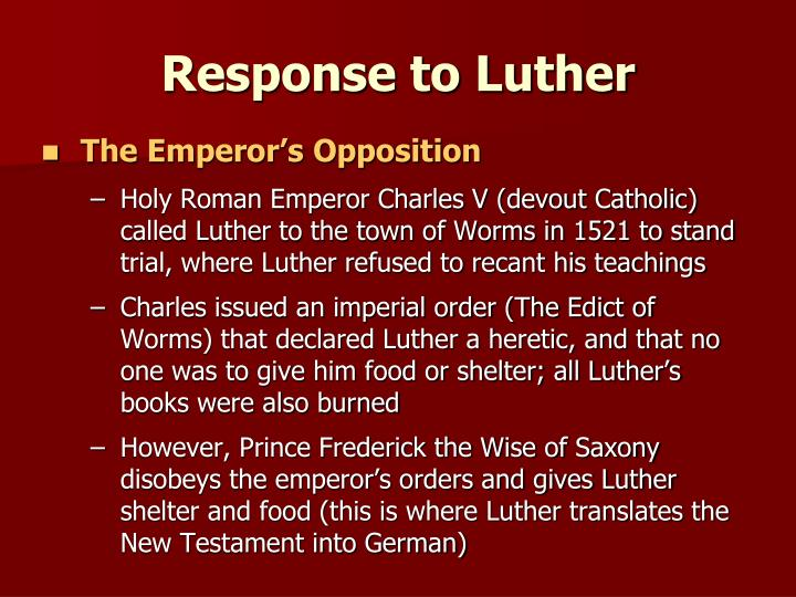 Response to Luther