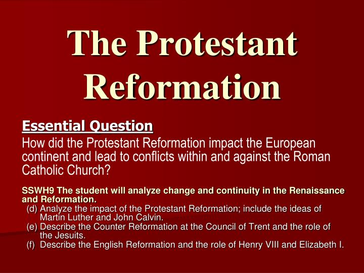 essays on the protestant reformation