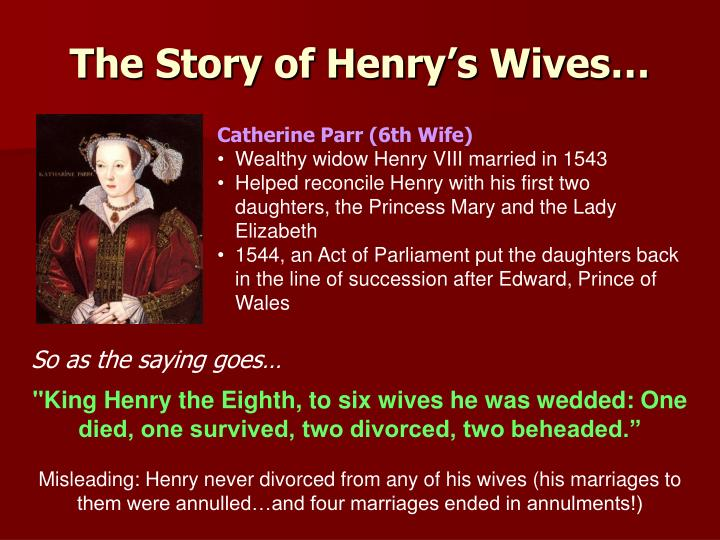 The Story of Henry's Wives…