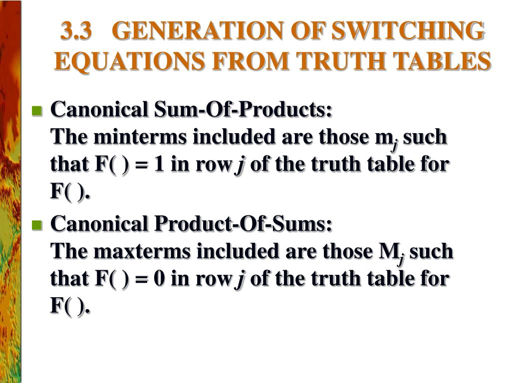 PPT - CHAPTER 3: PRINCIPLES OF COMBINATIONAL LOGIC (Sections