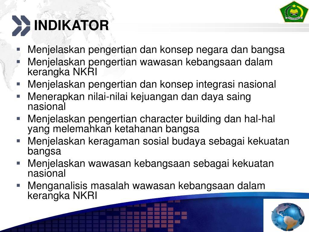 Ppt Wawasan Kebangsaan Dalam Kerangka Nkri Powerpoint Presentation Free Download Id 5776509