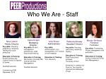 who we are staff