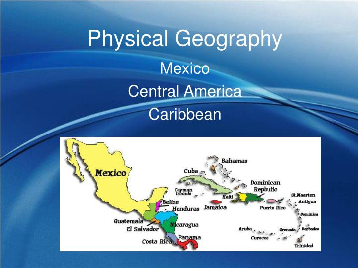 physical geography n.