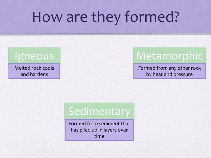 How are they formed?
