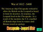 war of 1812 400