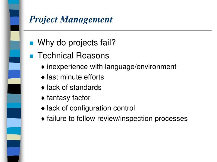 it implementaion project failures