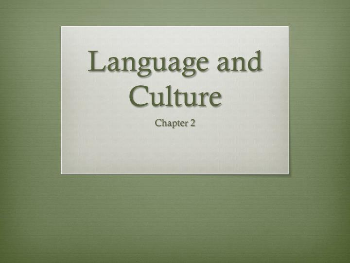 language and culture n.