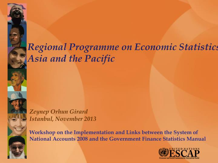 regional programme on economic statistics asia and the pacific n.