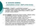 w edward deming v chodisko z krize out of the crisis