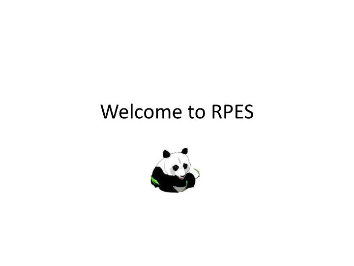 welcome to rpes n.