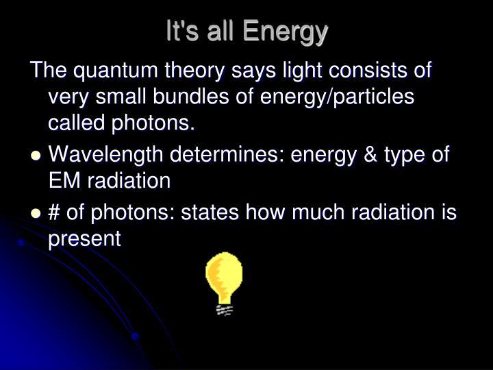 It's all Energy