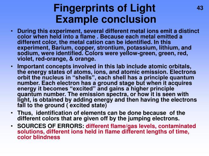 Fingerprints of Light