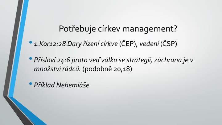 Pot ebuje c rkev management1