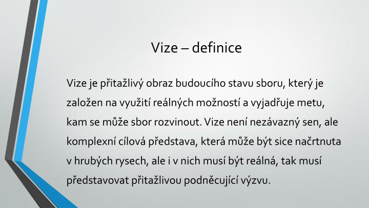 Vize – definice