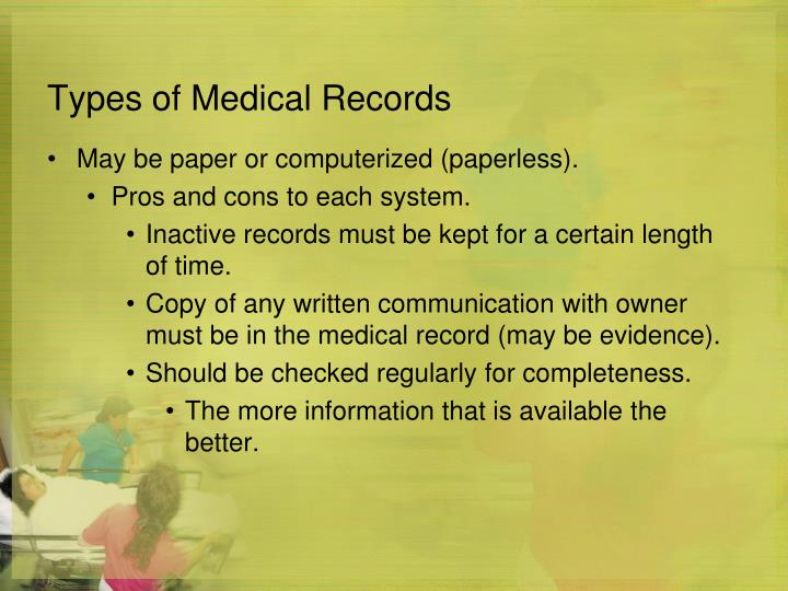 Ppt Medical Records Powerpoint Presentation Id5777425