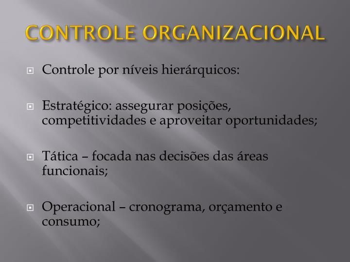 Controle organizacional1