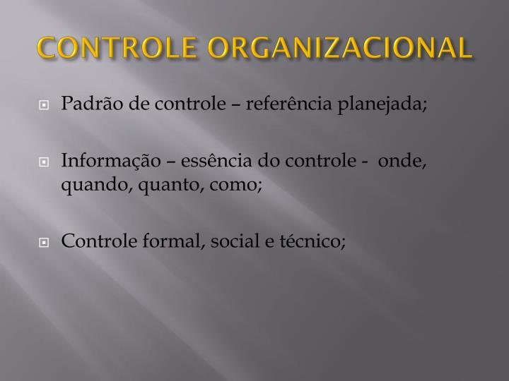 Controle organizacional2