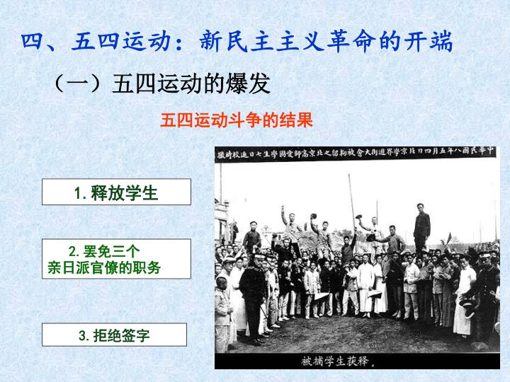 四、五四运动:新民主主义革命的开端