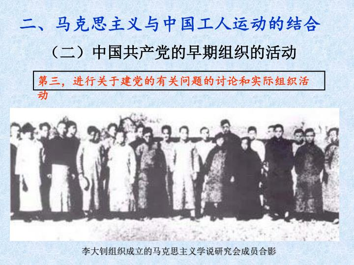 李大钊组织成立的马克思主义学说研究会成员合影