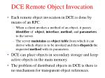 dce remote object invocation