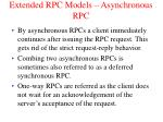 extended rpc models asynchronous rpc