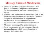 message oriented middleware