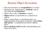 remote object invocation1