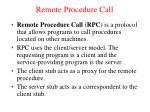 remote procedure call1