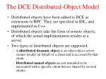 the dce distributed object model