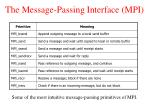 the message passing interface mpi1