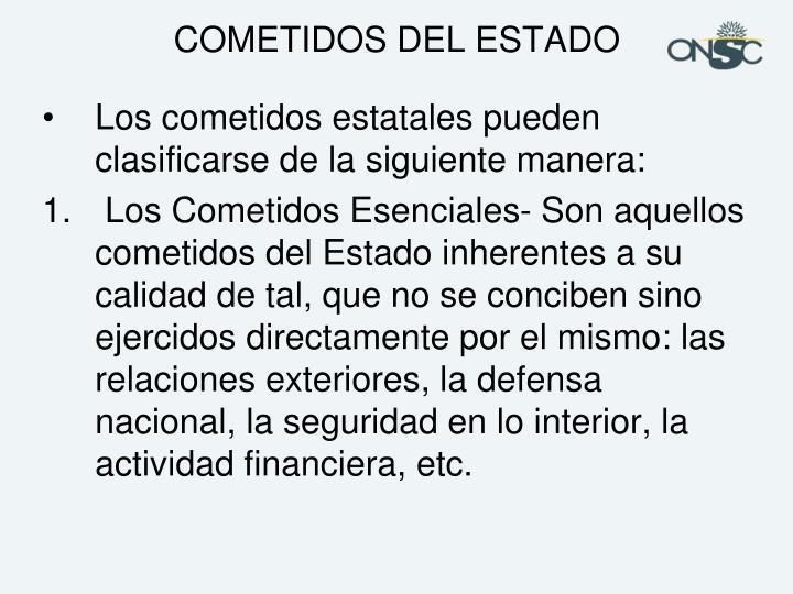 COMETIDOS DEL ESTADO