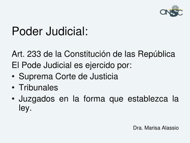 Poder Judicial: