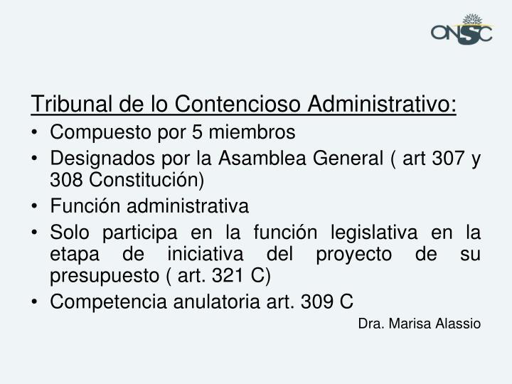 Tribunal de lo Contencioso Administrativo: