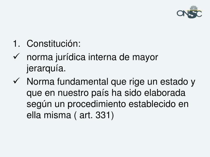 Constitución: