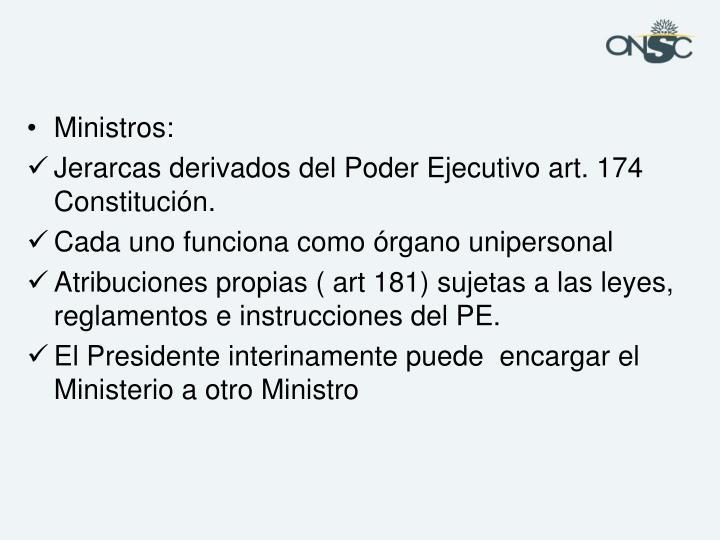 Ministros: