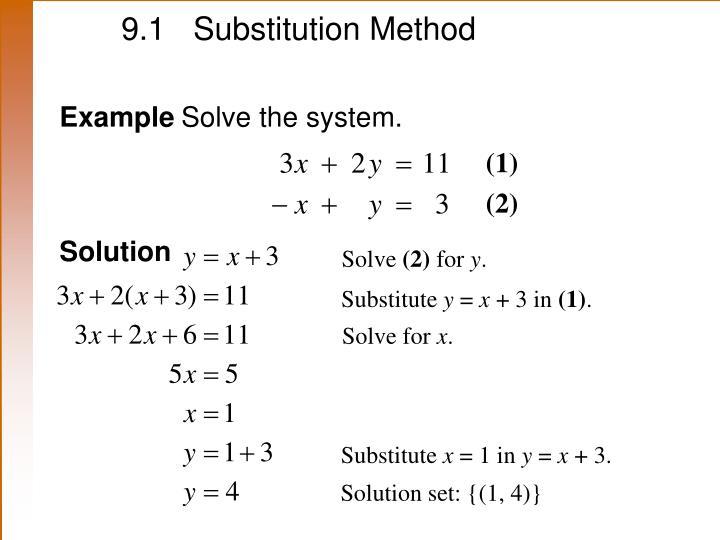 9.1 Substitution Method