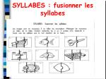 syllabes fusionner les syllabes