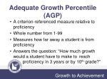 adequate growth percentile agp