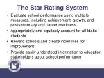 the star rating system