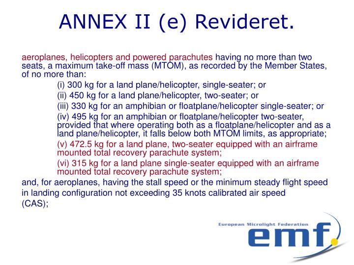 Annex ii e revideret