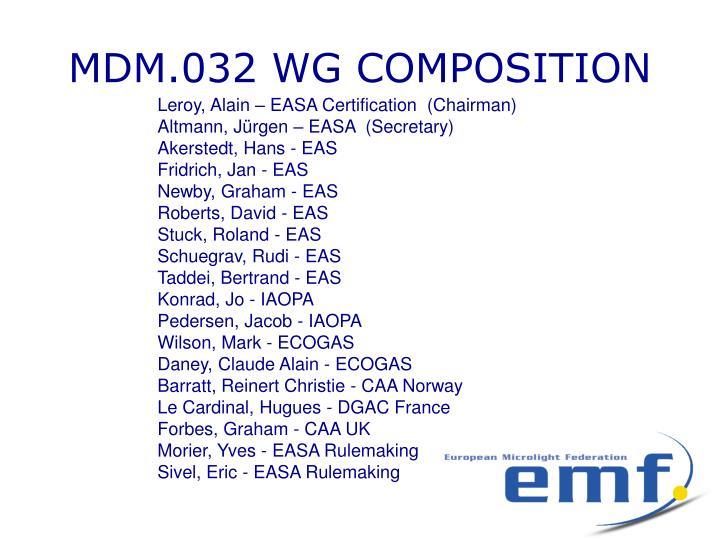 MDM.032 WG COMPOSITION