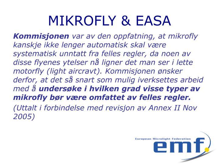 Mikrofly easa