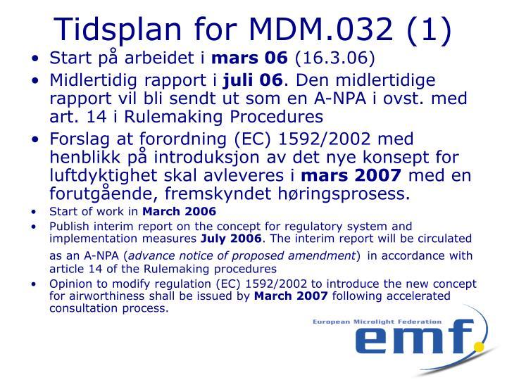 Tidsplan for MDM.032 (1)
