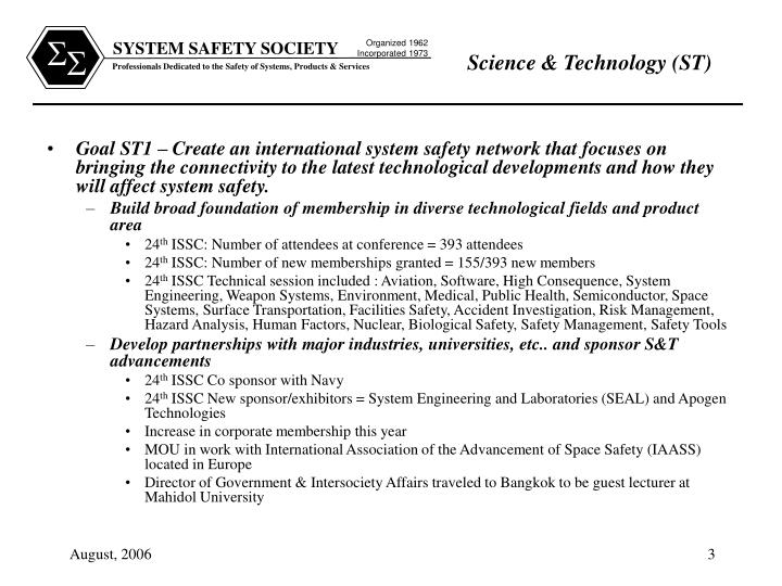 Science technology st